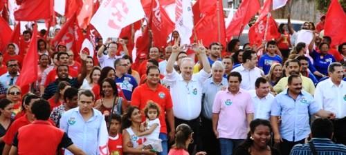 E com o ministro nas ruas do Turu, em favor de Dilma