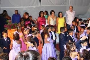 Ribamar Alves, Luana e família, coma s crianças