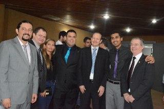 O deputado, ao lado de Júnior Verde, Rafael Leitoa, Márcio Honaiser, Marco Aurélio e Levy Pontes