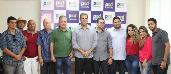 Luis Ferando, com Trinchão e os dirigentes do PSD de Ribamar
