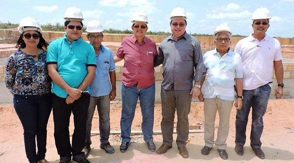 Amaury com representantes do Ifma na vistoria às obras