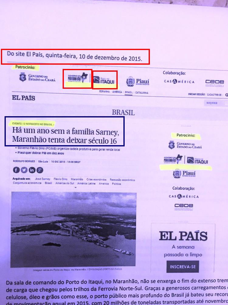 Site do El País: financiamento público para ataques políticos