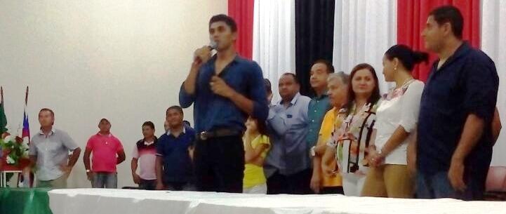 O discurso das lideranças empolgou os convidados...