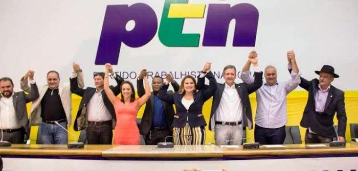 """As lideranças do PTN nacionais e locais, ao lado de Maura Jorge: """"Maranhão para todos, não para alguns"""""""