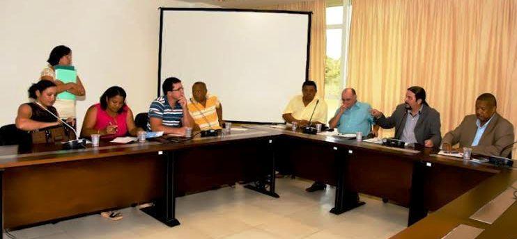 Júnioer Verde na reunião para tratar de sua proposta para os pescadores maranhenses