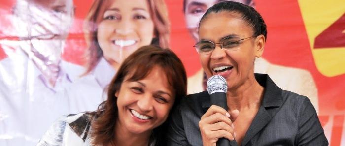 Eliziane Gama e Marina Silva: parceria para além dos partidos...