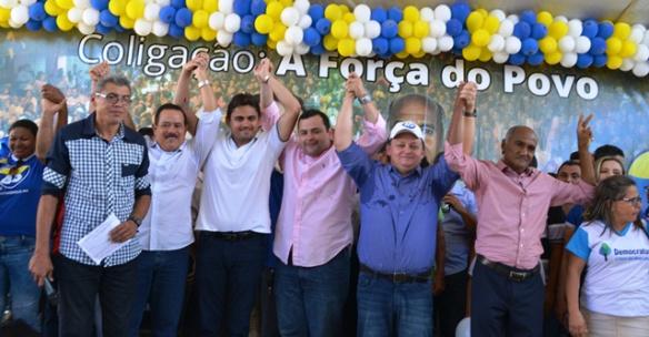 Juscelino com Dr. Raimundinho e aliados em Esperantinópolis