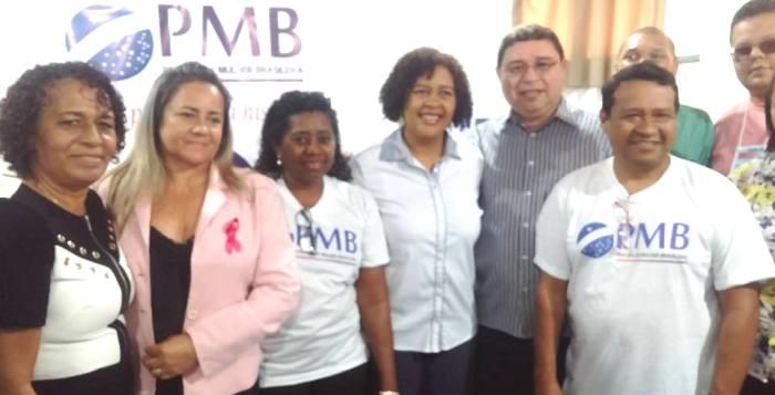 Rose Sales entre os correligionários do PMB; partido-ponte não pode ter tempo na TV...