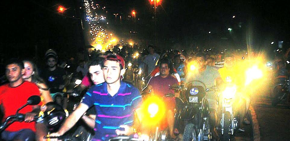 A movimentação de motoqueiros também marcou o lançamento de campanha