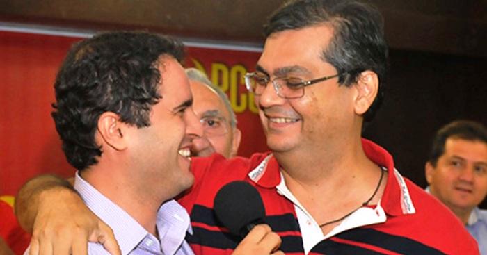 Edivaldo com Flávio: apoio tardio incomoda aliados do prefeito