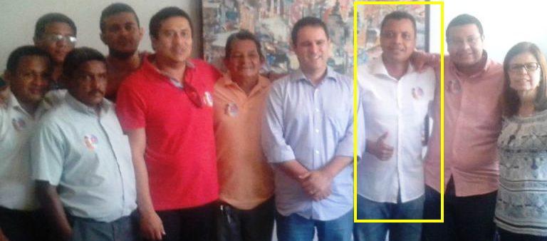 O mesmo Nival Costa, com o próprio Holandinha, na declaração de apoio do PMDB ao prefeito