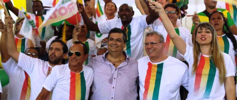 Sérgio Frota com Flávio Dino: calendário político falou mais alto que o esportivo