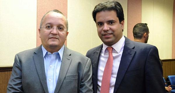 O deputado com o governador de Mato Grosso, Pedro Taques