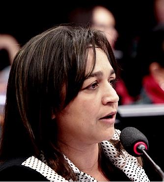 Eliziane Gama na reunião da comissão
