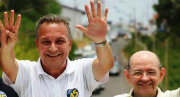 Luis Fernando com seu vice em Ribamar: de volta ao debate