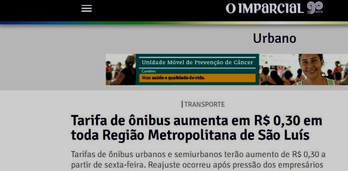 A informação de O Imparcial que circulou nesta quarta-feira; notícia antiga...