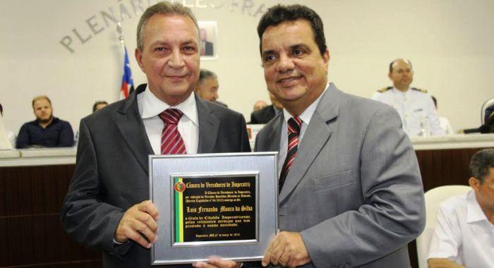 O rpefeito eleito agora ´cidadão de Imperatriz, município onde se fez presente como gestor estadual