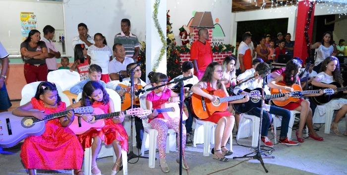 O projeto musical Sonho de Criança deu o destaque lúdico ao evento promovido pela prefeita