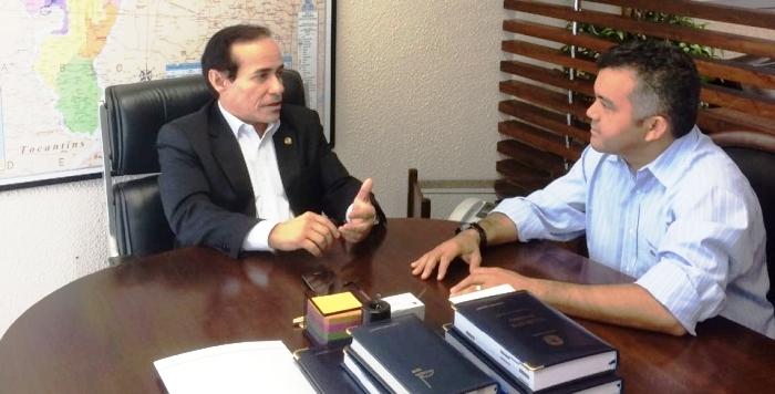 Agora senador, Pinto conversa com Cléber, seu ex-colega de bancada na Câmara Federal