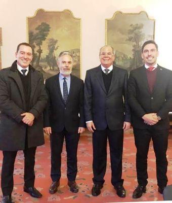 Os parlamentares brasileiros com colegas italianos