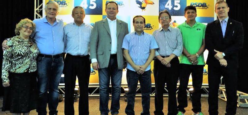 Carlos Brandão e Pinto Itamaraty com parlamentares e eleitos em São Luís