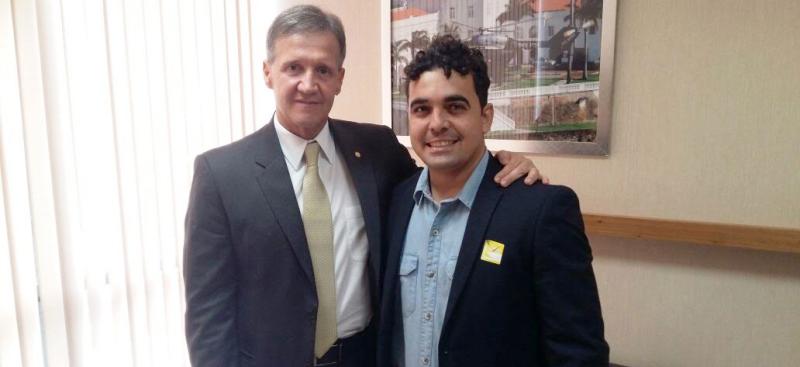 Aluisio Mendes recebeu em Brasília o vereador Luzardo Segundo