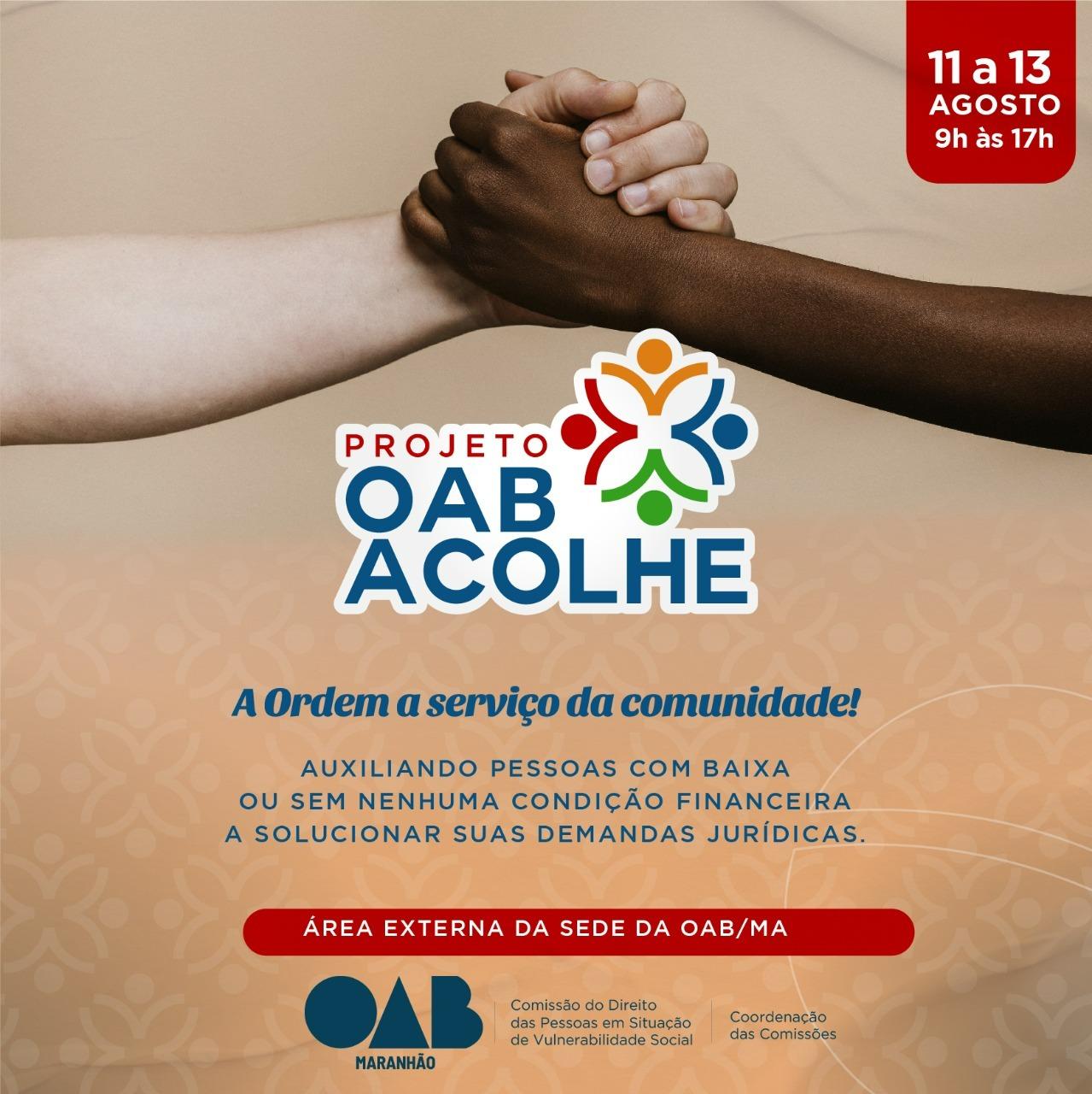 MÊS DA ADVOCACIA! OAB/MA oferece assistência jurídica e outros serviços à população de São Luís.